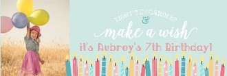 Whimsical Candle Wishes Birthday Banner