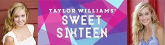 Bright Pink Purple and Blue Geometric Sweet Sixteen Party Banner
