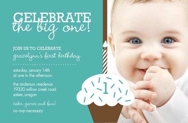 It Was Perfect For My Little Boy 1St Birthday Invitations Send