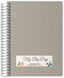 Soft Blue and Taupe Floral Wedding Journal