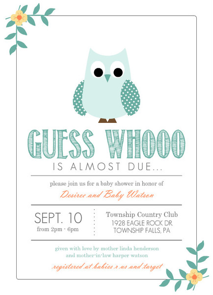 baby shower invitations for boys teal blue owl boy baby shower