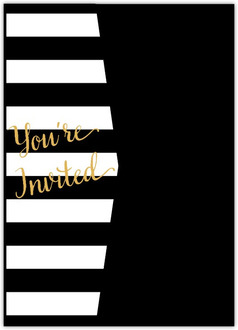 Modern Stripes Pocketfold Graduation Invitation