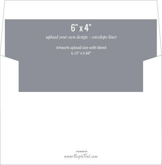 Upload Your Own Design 6x4 Envelope Liner