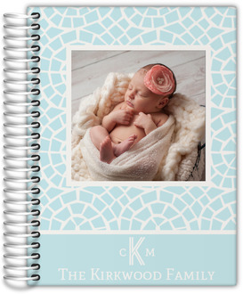 Baby Blue Mosaic Photo Planner