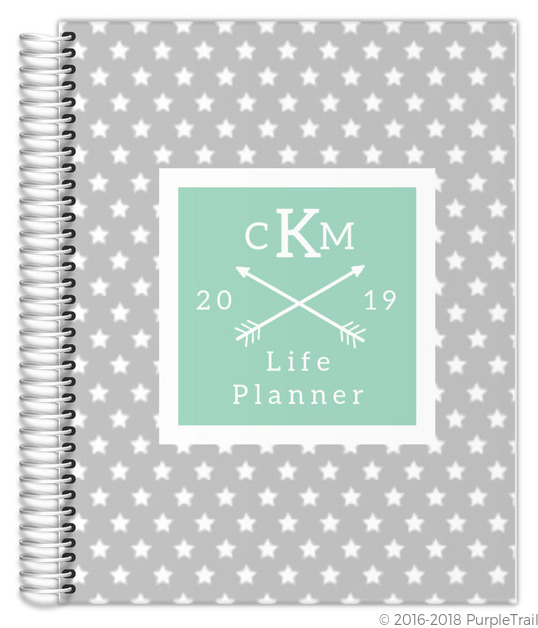 star spangled monogram custom life planner