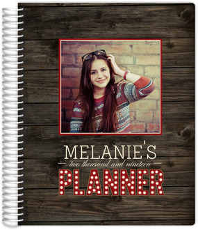 Rustic Woodgrain Marquee Photo Planner