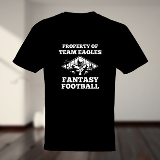 Property Of Team Name Fantasy Football T-shirt