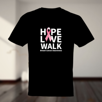 Hope Live Walk Breast Cancer Awareness T-shirt