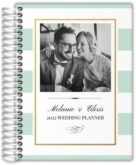 Classic Mint and Gold Frame Wedding Planner