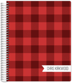 Red Plaid Teacher Planner