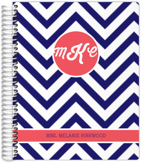 Chevron Monogram Teacher Planner