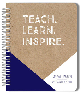 Teach Learn Inspire Teacher Planner