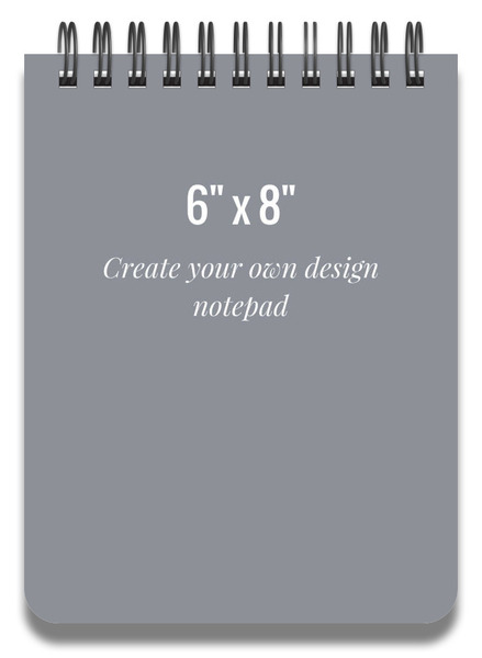 6x8 Notepad Design Your Own Personalized Notepads