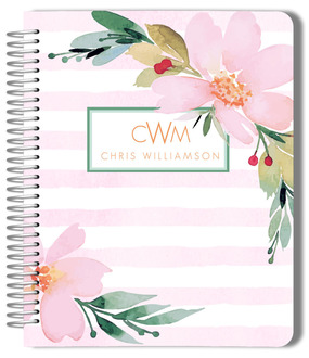 Floral Watercolor Custom Planner